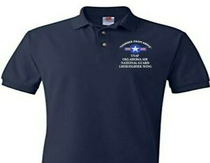 138TH FIGHTER WING OKLAHOMA AIR GUARD  EMBROIDERED POLO SHIRT/SWEAT/JACKET.