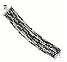"Bronze Multi strand Hematite Silver Magnetic Bracelet Size Large 8"". $ 194"