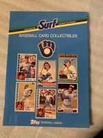 Vintage 1988 SURF MILWAUKEE BREWERS SEATTLE PILOTS TOPPS BASEBALL CARDS BOOK