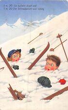 POSTCARD  CHILDREN    SWITZERLAND    Winter  Sports   Sking