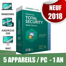 Kaspersky Total security 2018! 5 pc appareils Pc 1 An Original