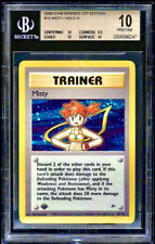 🏆🏆🏆 MISTY Holy Grail BGS 10 1st Edition Rookie POP 1 Gym Heroes  Pokemon Card