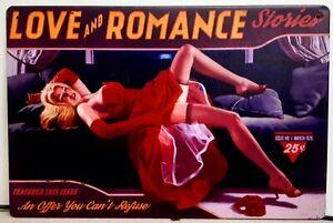 SEXY PIN UP GIRL Metal tin Sign Bar Pub Vintage Retro Wall Decor Home Club.