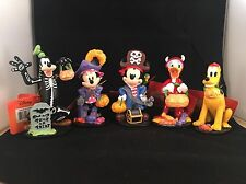 2016 CVS Disney Halloween Figurines FAB 5 Mickey Mouse Minnie Pluto Donald Goofy