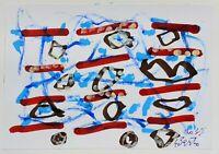 Gianpaolo Berto - Tecnica mista su carta, opera originale del 2015