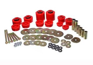 ENERGY SUSPENSION 80-96 Ford F-150/250/350 Red Body Mount Bushing Set 4.4123R