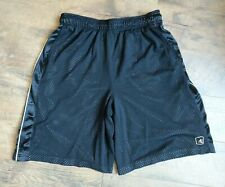 Men's And1 Athletic Basketball Shorts Black Mesh Size L