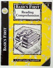 READING COMPREHENSION Basics First grade 1 Frank Schaffer 1996 Home school