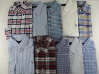 Polo Ralph Lauren Men OXFORD Shirt Classic Fit Long Sleeve Dress Plaid Striped