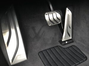 Genuine BMW X5 X6 M Performance Automatic Stainless Steel Pedal Set + Footrest
