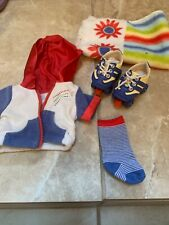 New American Girl Julie's Roller Skates and One Sock, Plus Towel And Jacket