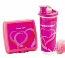 💕New Tupperware Sweet Love Lunch Set - Sandwich Keeper (1) Tumbler 470ml (1)💕