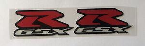 Pair Of 6cm Red GSX-R GSXR Reflective Vinyl Decal Stickers Suzuki Motorcycle #R