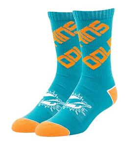 Miami Dolphins NFL Helix Socks, 1 Pair, Size Large mens 9-13