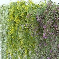 Artificial Hanging Plants Fake Flowers Leaves Long Green Silk Ivy Vine Garland *