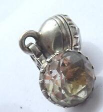 Georgian Silver + Rock Crystal Cufflink x 1