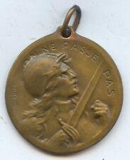 France Exonumia WW1 1916 Verdun Medal (#1049).  Very Nice Condition 27MM.
