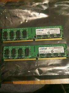 Crucial CT25664AA800 (2 GB, PC2-6400 (DDR2-800), DDR2 RAM, 800 MHz, DIMM 240-pi…