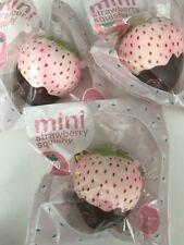 RARE Mini Puni Maru Strawberry Squishy Chocolate Dip