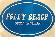 Folly Beach, South Carolina all weather sticker.