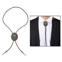 Western Cowboy Tie for Men  Bolo Tie Black Handmade Rodeo Texas Necktie with
