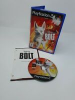 DISNEY'S BOLT GAME SONY PS2 PLAYSTATION 2 PAL COMPLETE WITH MANUAL FREE P&P