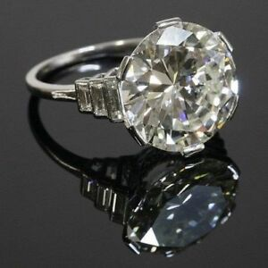 4.50 Ct Solitaire Round Cut Diamond Engagement Ring in Solid 925 Sterling Silver