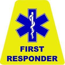 EMS First Responder HELMET TETS TETRAHEDRONS HELMET STICKER  EMT REFLECTIVE