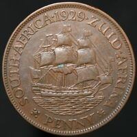 1929 | South Africa George V Penny | Bronze | Coins | KM Coins