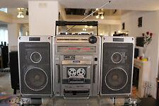 VINTAGE HITACHI TRK-9140E HIFI STEREO CASSETTE GHETTOBLASTER BOOMBOX RADIO JAPAN