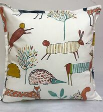 2 NEW CUSHION COVERS IN PRESTIGIOUS OH MY DEAR, FRESH FUN SCANDI ANIMAL PRINT.