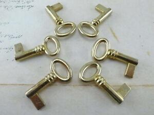 (Lot of 6) Vtg Style Open Barrel Key Furniture Cabinet Wedding Pendants Charms