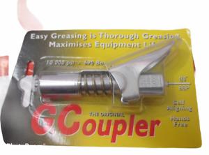 "Grease Gun G Coupler Quick Release Lock On Coupling End 1/8"" BSP Workshop Farm"