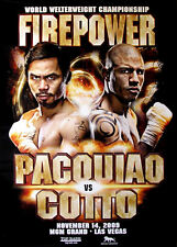 MANNY PACQUIAO vs. MIGUEL COTTO / Original MGM Onsite Boxing Fight Poster