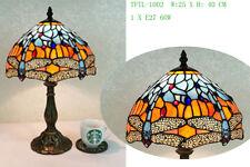 "Stylish Dragonfly Tiffany Styled table Lamp 10"""
