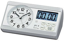 SEIKO réveil avec chronomètre et timer qhe152s