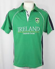 Pride and Glory Ireland Rugby Polo Shirt Embroidered Green Shamrock Men Large
