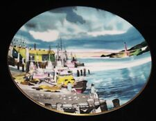 Royal Doulton Dong Kingman Fisherman's Wharf San Francisco Port Plate w/Box Coa