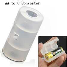 1X AA to C Size Battery Converter Home Office Adaptor Adapter Case Cover Box NEW