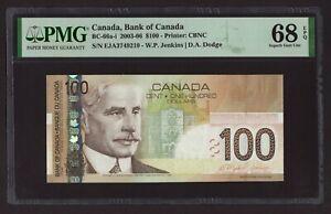 Canada 🇨🇦2003 - $100 Dollars Jenkins|Dodge - PMG Gem UNC 68 EPQ - **TOP POP**
