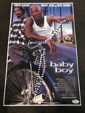 Snoop Dog Rapper signed autographed BABY BOY SHOW POSTER JSA COA