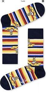 NEW Happy Socks The Beatles Yellow Submarine Socks Dark Yellow Size 10-13