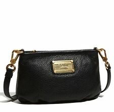 NWT MARC by MARC JACOBS Classic Q Percy Leather Crossbody Bag BLACK 100% AUTH