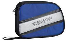 TIBHAR Doppelhülle HORIZON (blau / schwarz / silber)  Tischtennis Schlägerhülle
