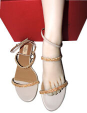 Valentino Rosa ante tango malva tira en tobillo manoletinas zapatos bailarinas