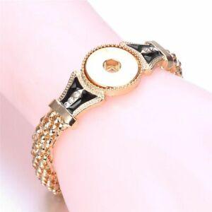 Snap Button Bracelet Charms Women Jewelry Twist Chain Bangle Adjustable Bohemia