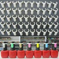 50pcs Polish UV Gel Color Showing Nail Art Salon Display Tips Tools Buckle Ring
