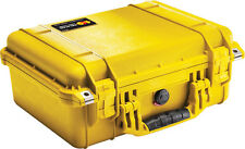 New Yellow Pelican 1450 case with foam includes FREE Engraved Nameplate