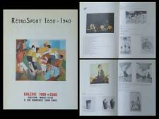 CATALOGUE RETROSPORT 1850-1940 - GALERIE 1900 2000, PARIS - ART SPORT