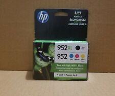 4-PACK HP GENUINE 952XL Black & 952 Color Ink  OFFICEJET 8200 NEW EXP 2021/2022.
